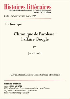 Page titre affaire Google