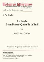 Le fonds Léon Pierre-Quint de la BnF
