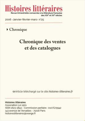 page titre chronique des ventes 25