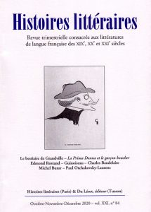 Histoires littéraires n°84 octobre-novembre-décembre 2020