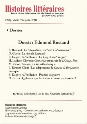 Couv dossier Edmond Rostand