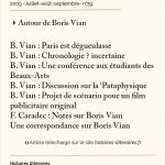 Autour de Boris Vian