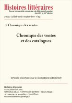 Chroniques des ventes et des catalogues