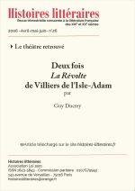 Deux fois <em>La révolte</em><br/>de Villiers de l'Isle-Adam