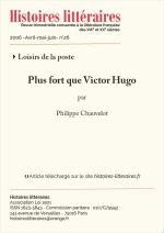 Plus fort que Victor Hugo