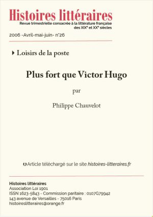 couv. Plus fort que Victor Hugo