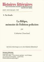 La Bilipo, mémoire de l'édition policière