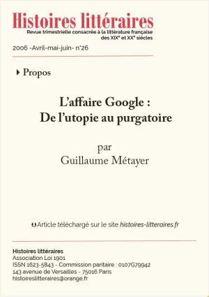 Couv. affaires Google