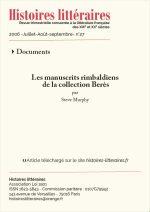 Les manuscrits rimbaldiens<br/>de la collection Berès