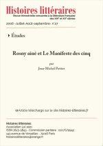 Rosny Aîné et le <em>Manifeste des cinq</em>