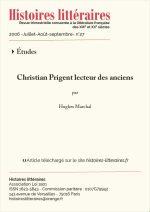 Christian Prigent lecteur des anciens