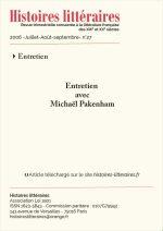Entretien avec Michaël Pakenham