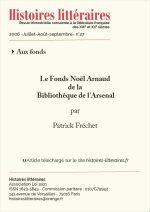 Le fonds Noël Arnaud<br/>de la Bibliothèque de L'Arsenal