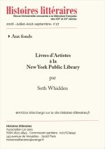 Livres d'Artistes<br/>à la New York Public Library