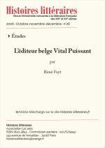 L'éditeur belge Vital Puissant