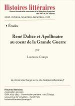 René Dalize et Apollinaire<br/> au cœur de la Grande Guerre