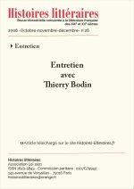 Entretien avec Thierry Bodin