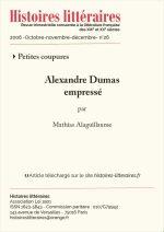 Alexandre Dumas empressé