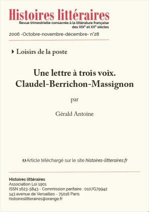 Couv Claudel-Berrichon-Massignon