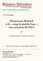 Maupassant, Reinach<br/> et le « coup de pied de l'âne » :<br/> une caricature du Pilori.