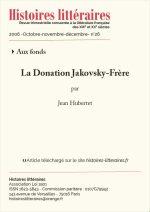 La Donation Jakovsky-Frère
