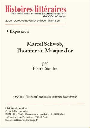 Couv. Marcel Schwob