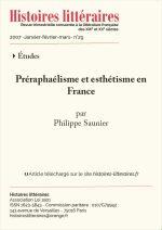 Préraphaélisme<br/> et esthétisme en France