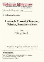 Lettres de Rossetti, Chesneau,<br/>Péladan, Sarrazin et divers