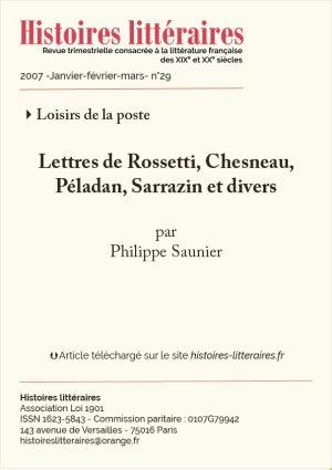 Couv. Péladan, Rossetti, Chesneau