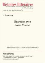 Entretien avec Louis Monier