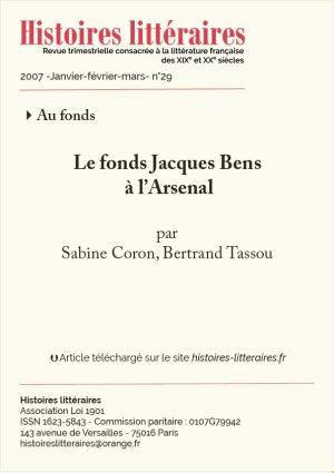 Couv. Jacques Bens