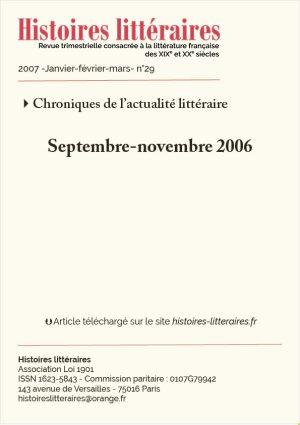 Couv. Chronique actualité littéraire