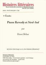 Pierre Reverdy et <em>Nord-Sud</em>