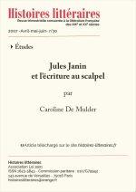 Jules Janin<br/> et l'écriture au scalpel