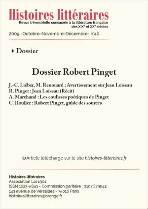 Couv. Robert Pinget