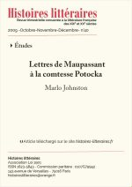 Lettres de Maupassant<br>à la comtesse Potocka
