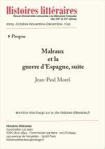 Malraux et la guerre d'Espagne, suite