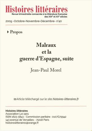 Couv. Malraux Espagne