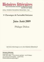 Chronique de l'actualité littéraire<br>Juin-Août 2009
