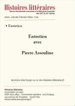 Entretien avec Pierre Assouline