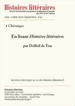 En lisant <em>Histoires littéraires</em> n°42