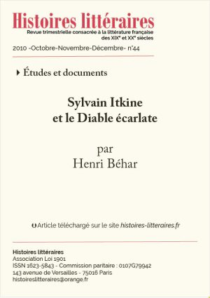 Couv. Sylvain Itkine