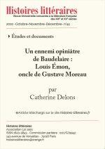 Un ennemi opiniâtre<br> de Baudelaire :<br> Louis Émon, oncle de Gustave Moreau