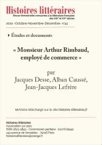 « Monsieur Arthur Rimbaud, employé de commerce »