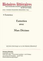 Entretien avec Marc Décimo