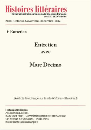 Couv. Marc Décimo