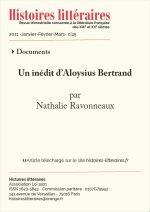 Un inédit d'Aloysius Bertrand