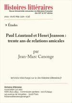 Paul Léautaud et Henri Jeanson : trente ans de relations amicales