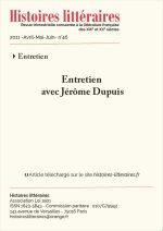 Entretien avec Jérôme Dupuis