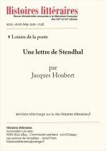 Une lettre de Stendhal